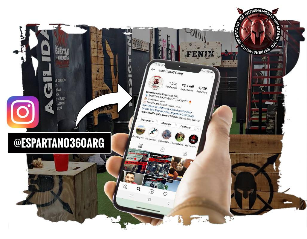 Entrenamiento Espartano 360 - Seguinos en Instagram