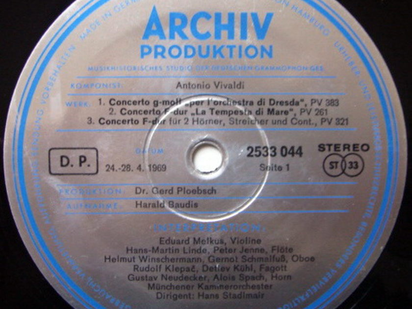 ★1st Press★ Archiv / STADLMAIR, - Vivaldi Concertos for Wind Instruments, MINT!