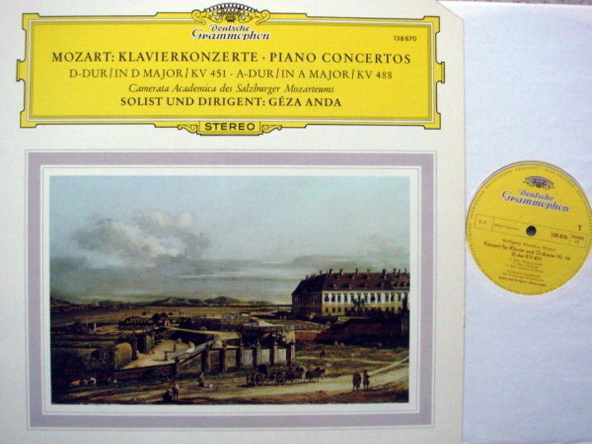 DG / GEZA ANDA, - Mozart Piano Concerto No.16 & 23, MINT!