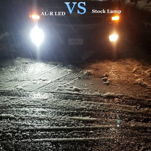 Alla AL-R H8 H16 H11 LED Fog Lights Bulbs White vs Halogen Lamps