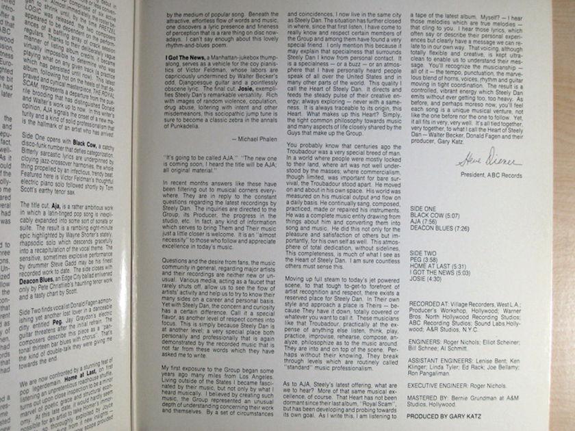 Steely Dan - AJA - 1977 ABC Records AA 1006
