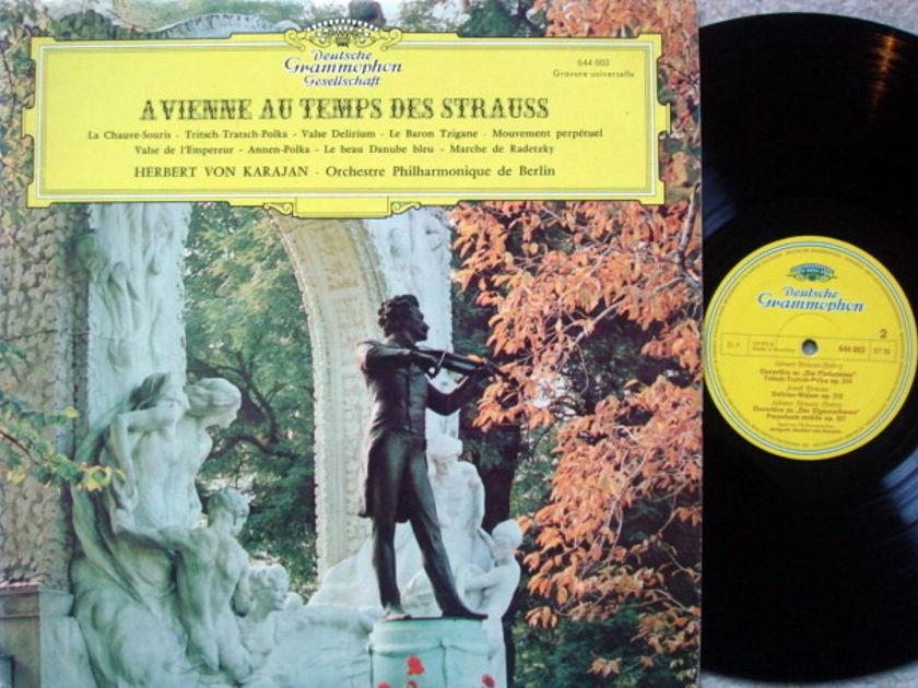 DGG / Strauss On the Blue Danube, - KARAJAN/BPO, NM, French Press!