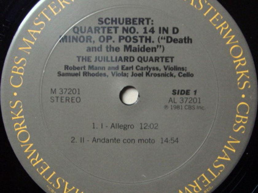 CBS / JUILLIARD QT, - Schubert String Quartet Death & the Maiden, MINT!