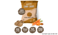 Bombay Carrot Curry Crisps with ingredients