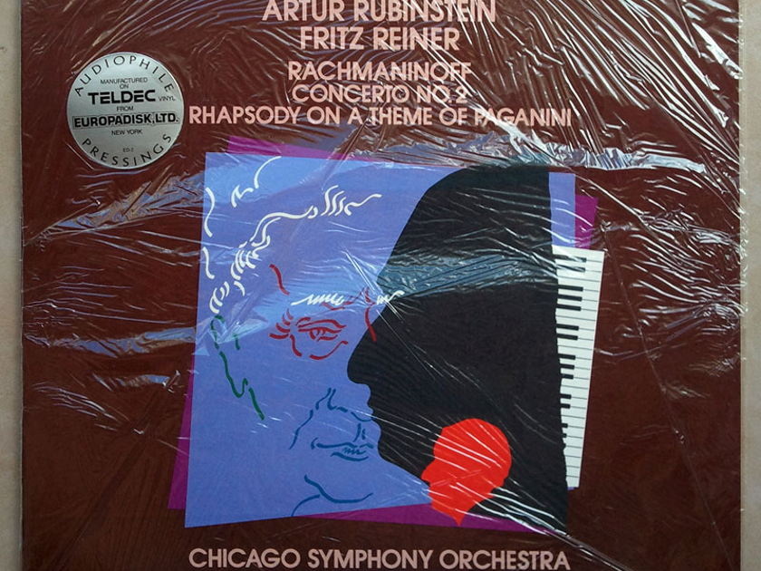Sealed RCA Half-Speed | RUBINSTEIN/REINER/RACHMANINOFF - Piano Concerto No. 2 / Audiophile Pressings
