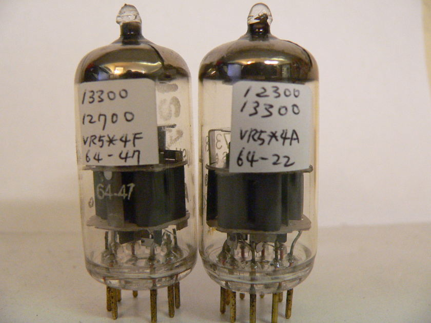 Amperex 7308/E188CC USN-CEP/PQ White Label, 1964, Gold Pins, matched