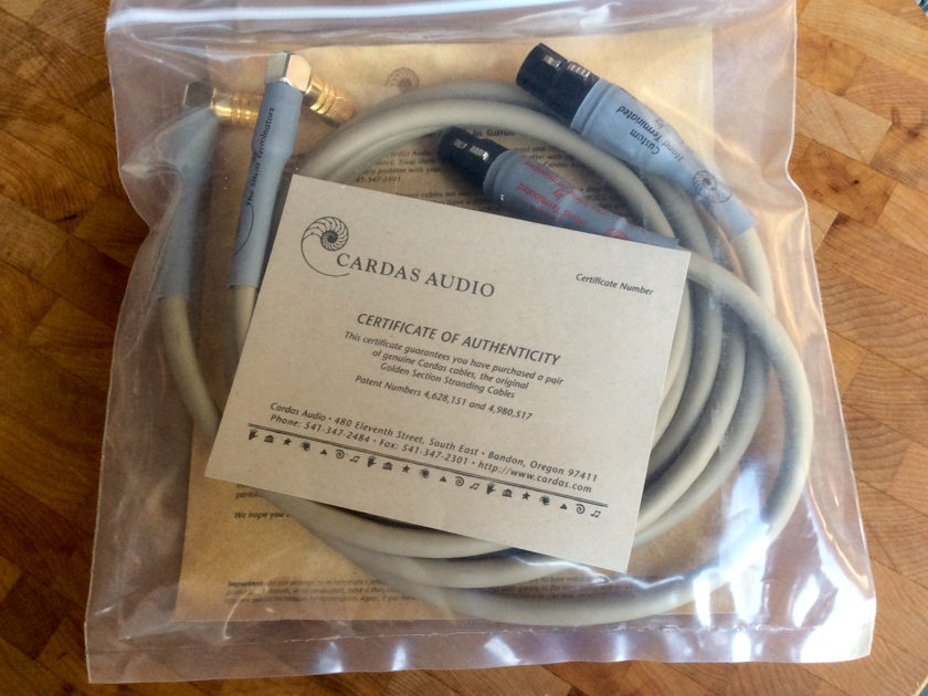 Cardas Audio Neutral Reference Interconnect 1.5M XLR-to-RCA - FREE SHIPPING