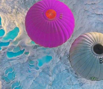 Памуккале на рассвете + воздушные шары из Кемера