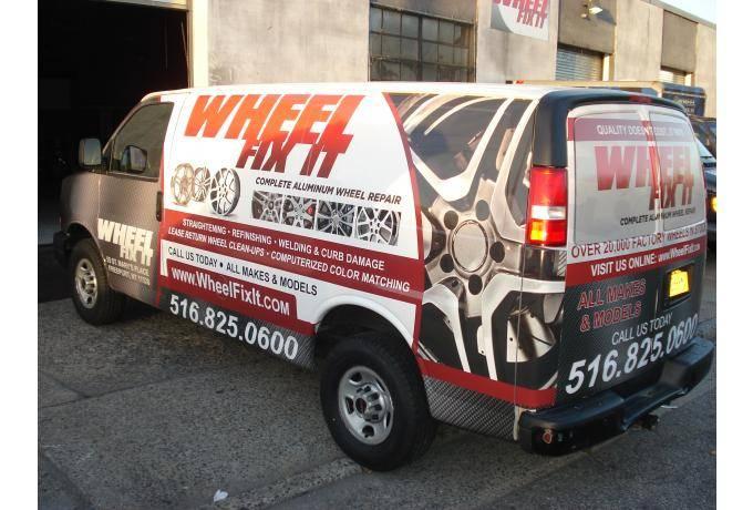 Full vehicle wrap on van