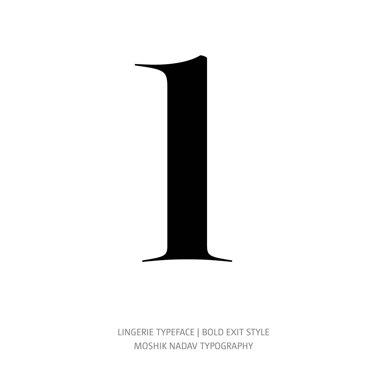 Lingerie Typeface Bold Exit l