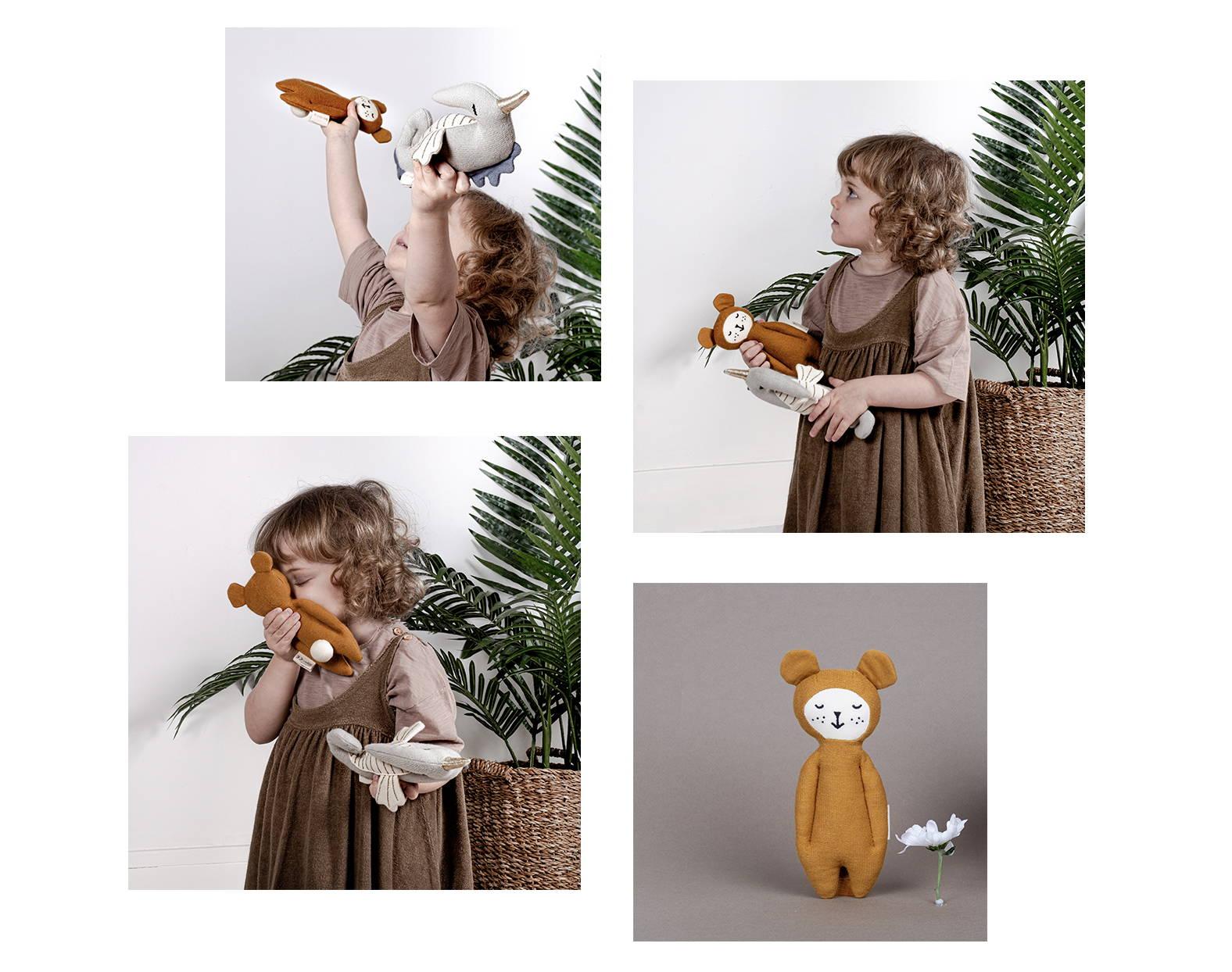 Peluche ours  en coton biologique