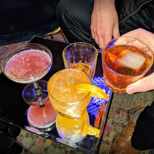 Picture of Help support local by stopping by Tiny House Bar to get Cocktails and Cocktail kits to go!