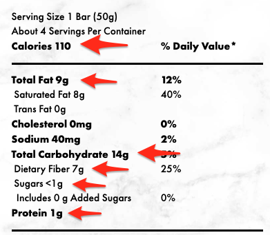 so delicious nutrition facts