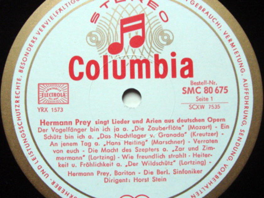 GERMAN COLUMBIA WHITE & GOLD / HERMANN PREY, - Songs and Arias from German Operas, MINT!