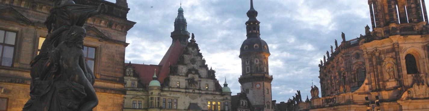 Романтический Дрезден — прогулка по вечернему городу