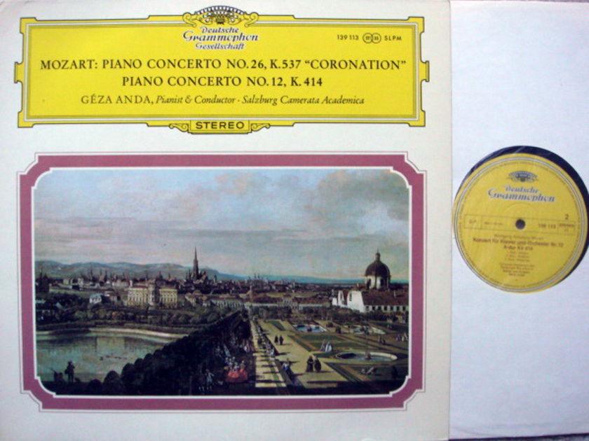 DGG / GEZA ANDA, - Mozart Piano Concerto No.12 & 26 Coronation, MINT!