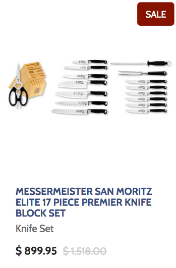 Messermeister San Moritz Elite 17 Piece Premier Knife Block Set