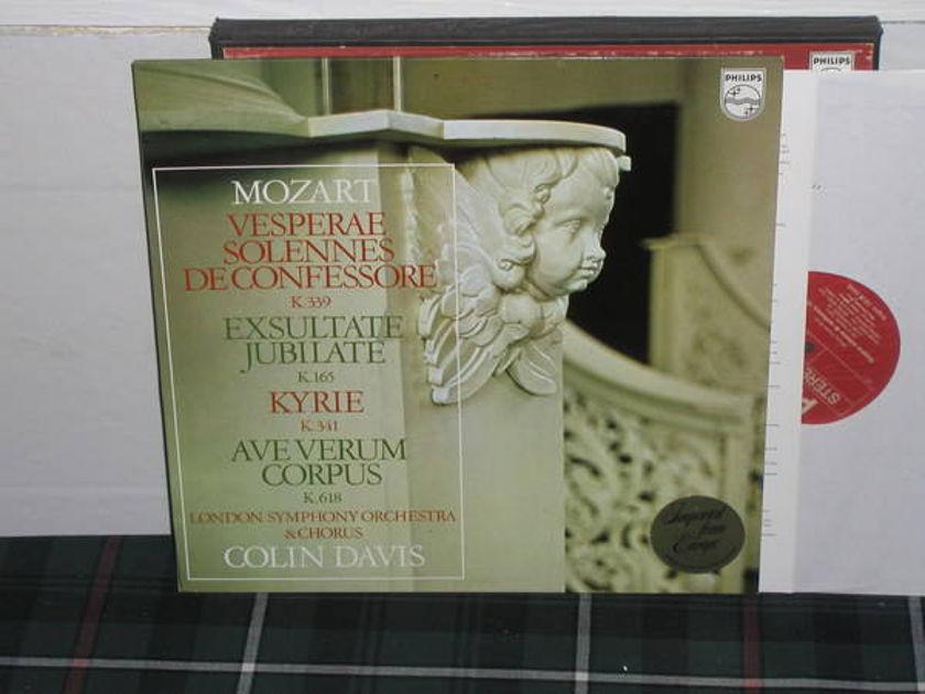 Davis/LSO - Mozart Vesperae Philips Import pressing 6500