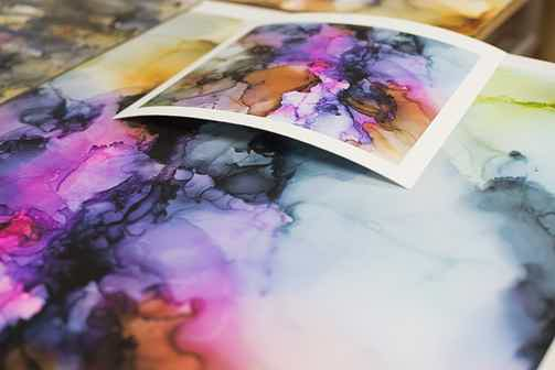Art scan color proof and original comparison