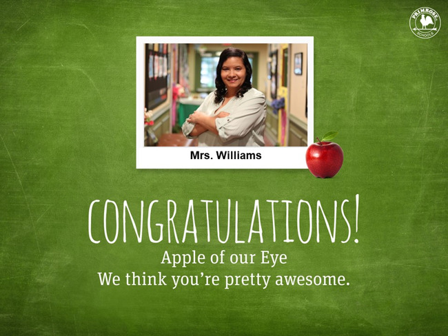 Congratulations on being our November Apple of Our Eye!